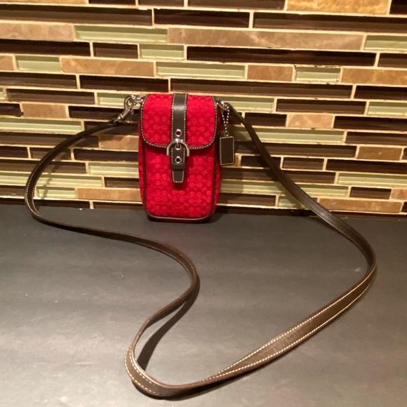 Coach Handbags - Coach Signature Mini Crossbody